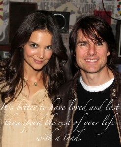 "Tom Cruise And Katie Holmes Visit Broadway's ""American Idiot"" - April 12, 2011"